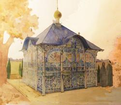 9. Эскиз часовни  на кладбище. Скопин