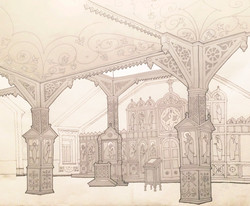Эскиз интерьера храма. Красноярск