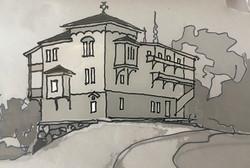 Эскиз монастырских келий