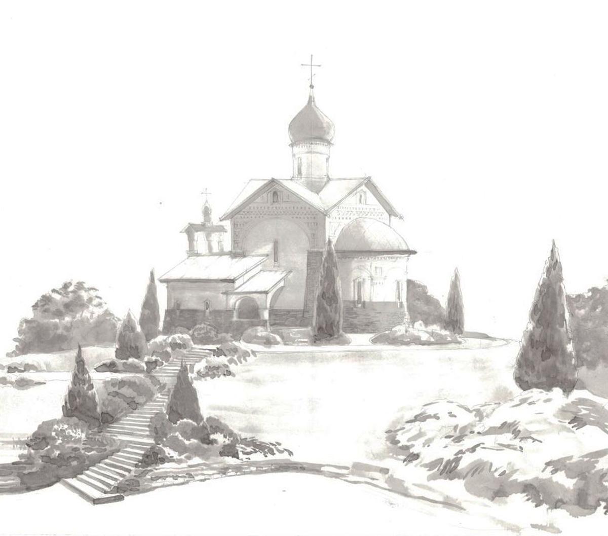 25. Эскиз храма. Конкурс