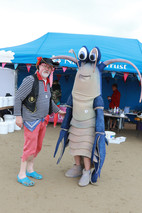 pirate Nick and the Hatchery's lobster 2015