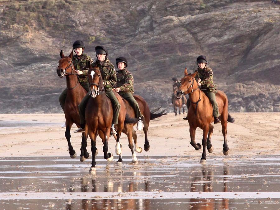 Kings Troop on Polzeath beach