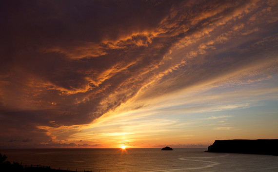 Polzeath sunset by Jane Pickles