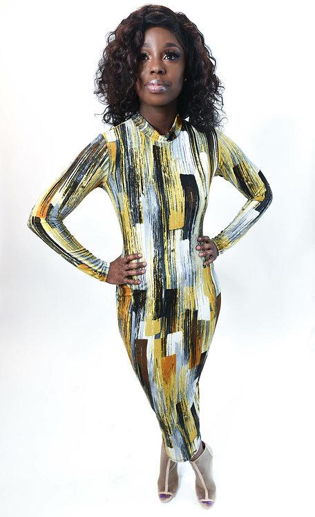 Rustic Streak Body Con Dress