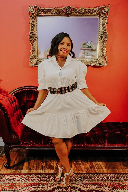 The Best of Me Mini Dress -White