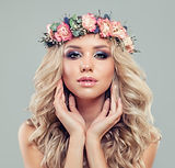 Cute Blonde Woman with Long Blonde Hair