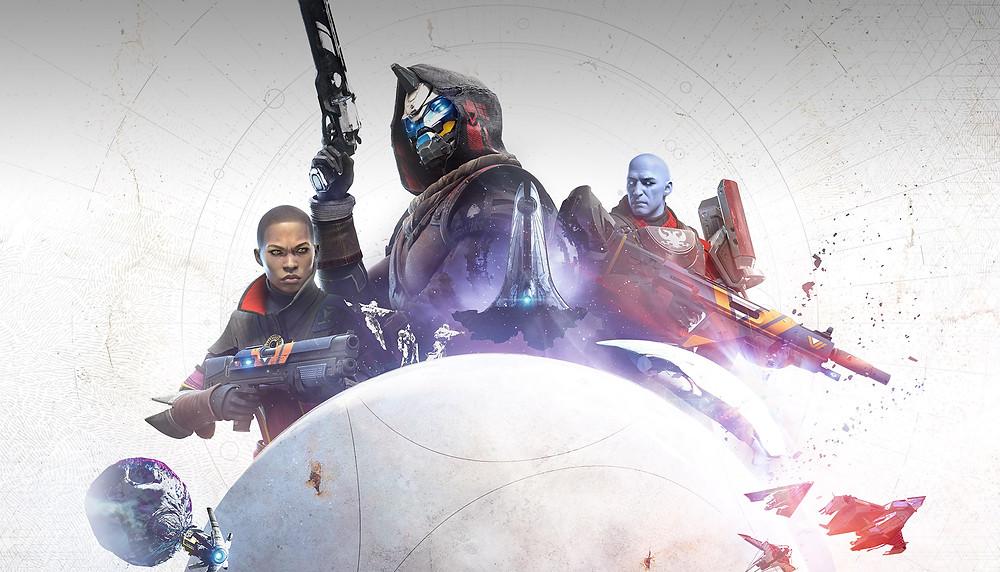 Pressebild Destiny 2 mit Cayde-6, Ikora und Zavala