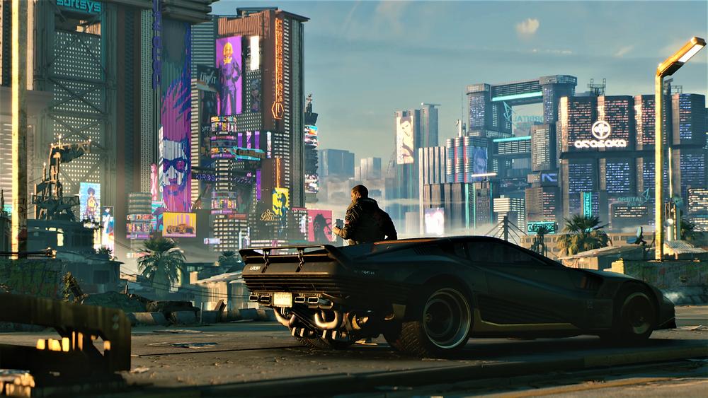 Die eindrückliche Kulisse von Night City in Cyberpunk 2077