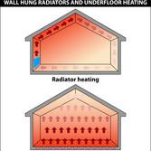 Underfloor heating versus radiator heating.