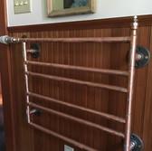 Custom fabricated copper towel warmer. Barefoot Radiant Heating.