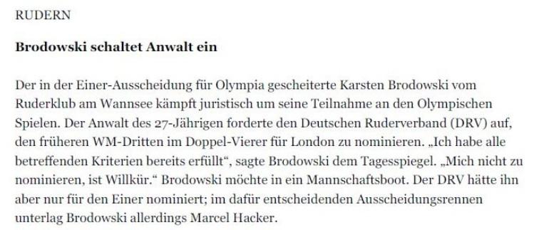 9.) 15.06.12 - Brodowski schaltet Anwalt ein - Tagesspiegel