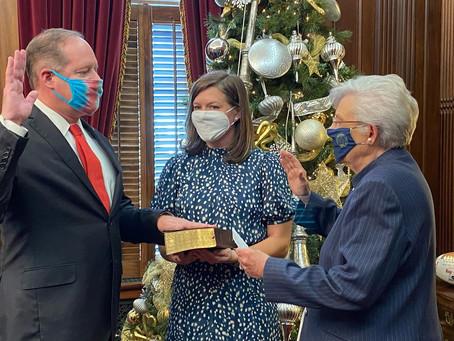 Former Senator Cam Ward sworn in at Alabama Bureau of Pardons and Paroles