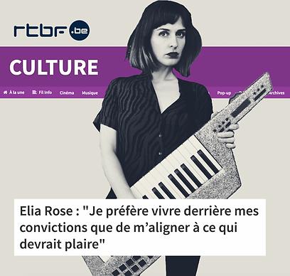 elia rose dans RTBF culture