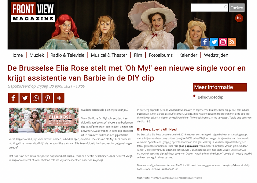 front magazine elia rose