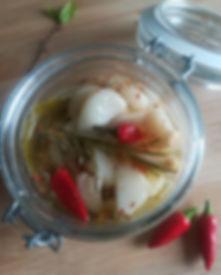 Aglio fresco marinato fatto in casa