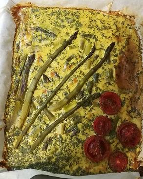 Farfrittata di Asparagi e Pomodorini Piccadilly