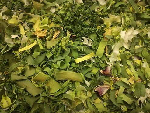 Dado autoprodotto da verdure miste essiccate.