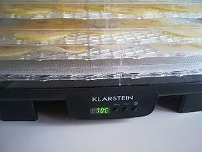 Essiccatore Klarstein Bananarama, Essiccatore di frutta  verdura. 6 piani, impilabile, 550 Watt, temperatura regolabile, modalità di ricircolo, Display LCD, timer programmabile