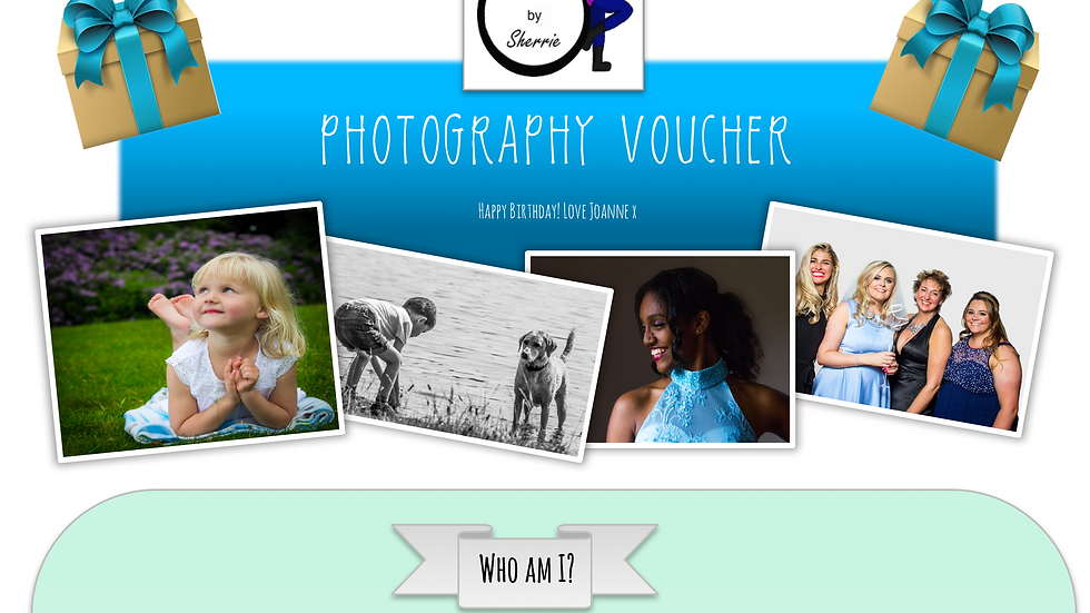 Birthday theme 1 Hour Photoshoot Voucher
