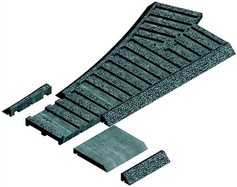 61615 G Scaler Left-Hand Roadbed for Switch