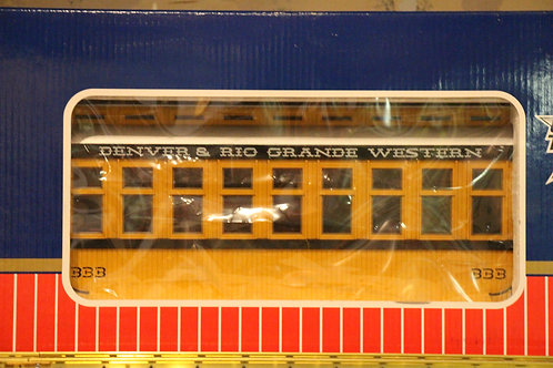 R30401 D&RGW - Passenger Car, Yellow/Sivler