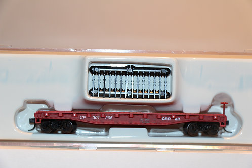 38186 CP Flat Car With Stakes
