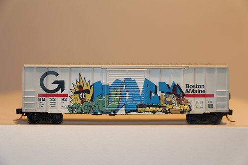 02544400 WEATHERED BOSTON AND MAINE Box Car