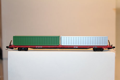 """07200230 CP 89'4"""" COFC Flat Car With Containers"""