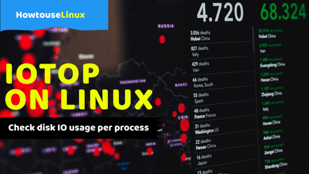 Using Linux Iotop to check disk IO usage Per process