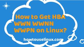 How to Check HBA WWN WWNN WWPN on Linux?