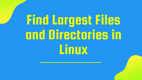 Using Du to find the largest files and directories in Linux