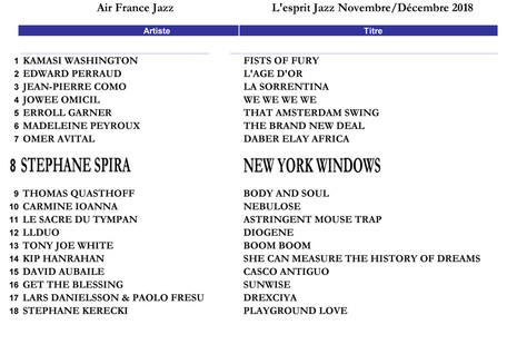 """New Playground"" flying on Air France Jazz Playlist !"