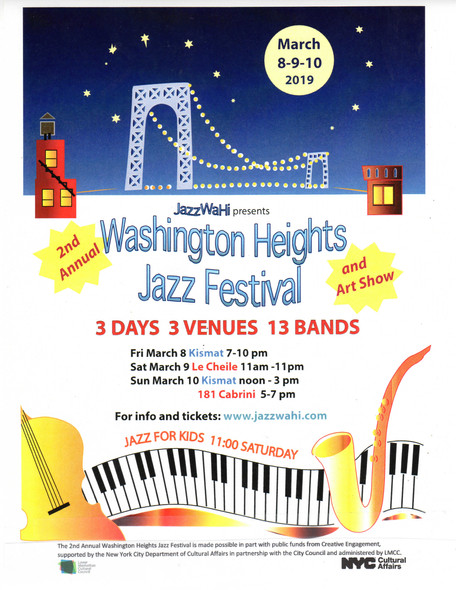 Playing March 9 @ 1:40pm with Josh Richman, Steve Wood and Andrew Atkinson - Washington Heights Fest