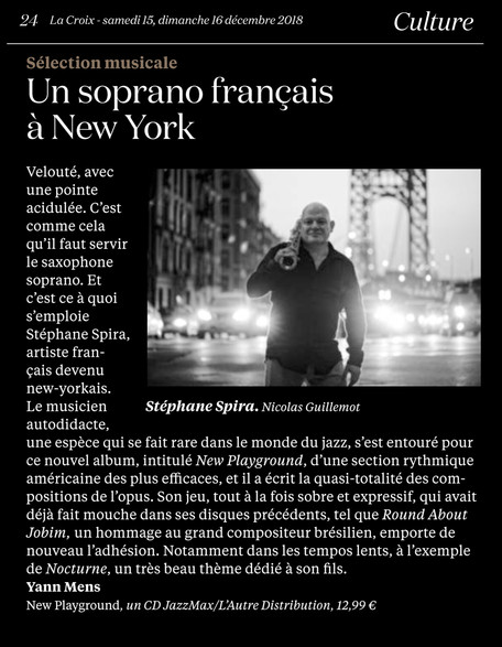 """""""Un soprano français à New York"""" - La Croix (French)"""
