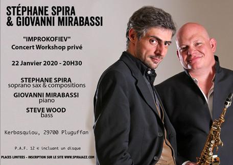 "SPIRABASSI ""IMPROKOFIEV"" - A Private Workshop before recording - Concert privé- 22-01-2020"