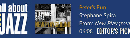 """Peter's Run"" from album ""New Playground"" selected among All About Jazz Top"