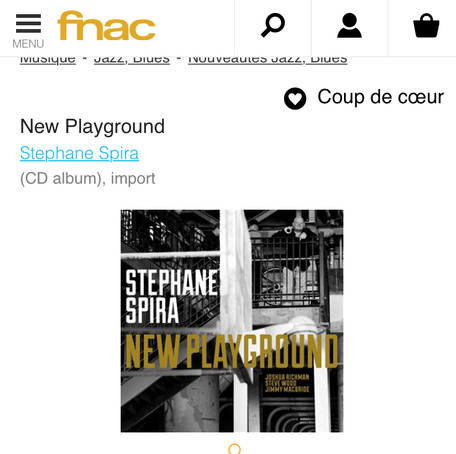 """New Playground"" Coup de coeur disquaire FNAC!"