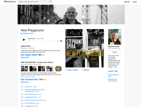 """""""New Playground"""" is now available on Bandcamp (us)"""