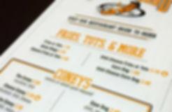 Coney Island drive thru menu board