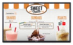 Dessert digital menu board design