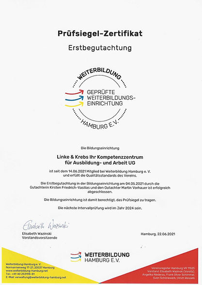 LK Zertifikat Weiterbildung Hamburg e.V.