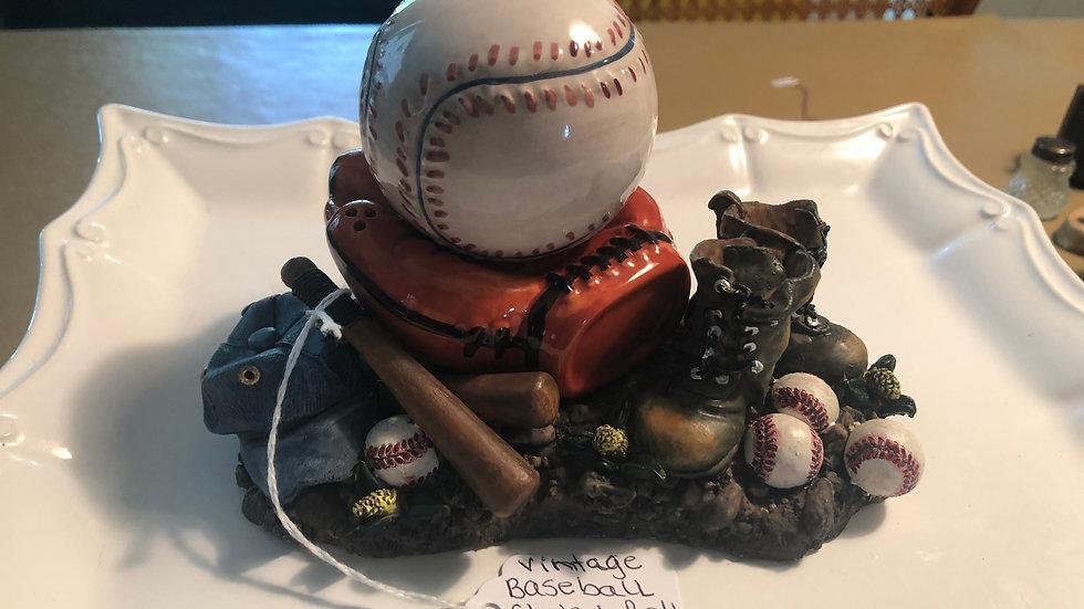 Baseball in Mitt Salt and Pepper Shaker