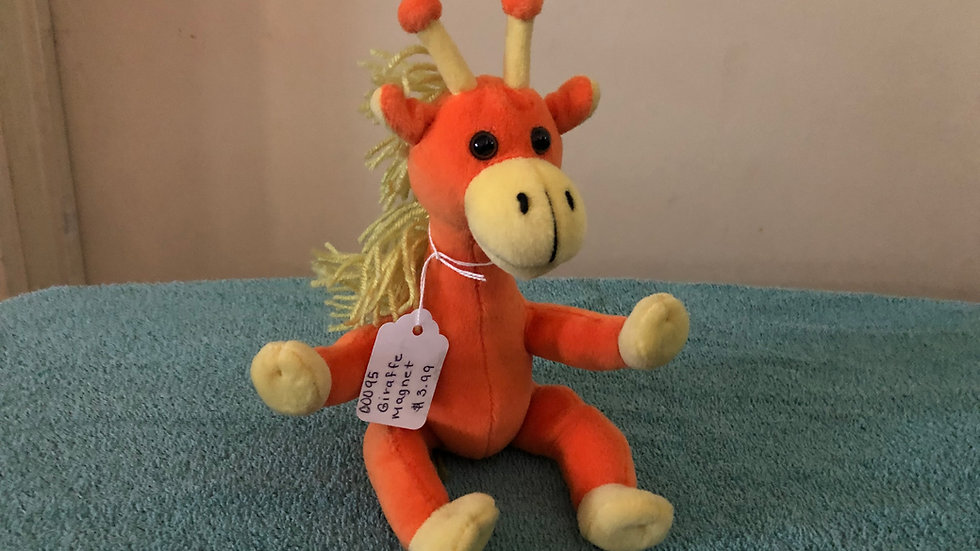 Giraffe Magnet Beanie Baby