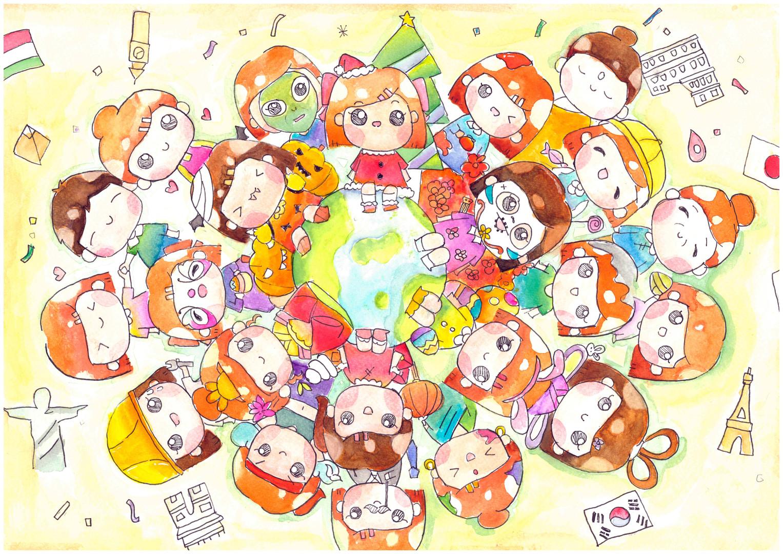 2020 - 2021 第十屆 世界兒童繪畫大獎賽(初中組) 冠軍       S2D Chan SC