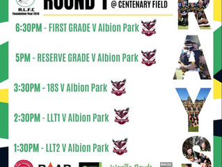 Round 1 vs Albion Park