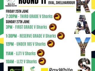 Sharks away on Sunday 27th June