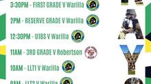 At home vs Warilla Sunday 16th May