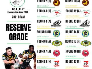 Reserve grade draw 2021