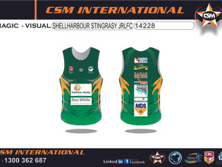 Juniors Training Singlets Finalised and Almost Ready for 2015