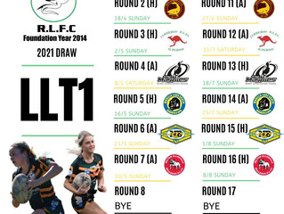 Ladies League Tag Division 1 draw 2021
